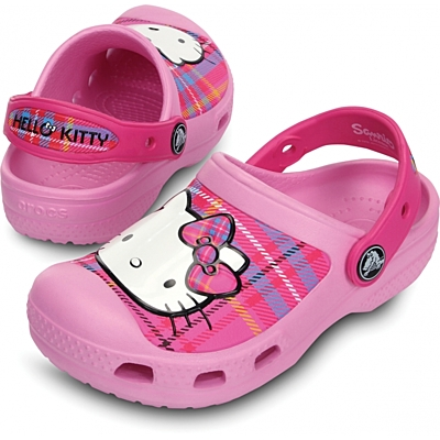 Crocs Hello Kitty Plaid Clog