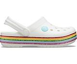 Crocband Rainbow Glitter Clg K